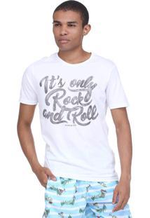 Camiseta King&Joe Rock And Roll Off White