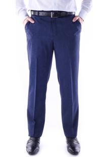 Calça 5535 Social Azul Traymon Modelagem Regular