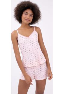 Pijama De Alcinha Estampa Poá