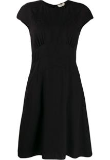 Fendi Vestido Mini Com Mangas Curtas - Preto