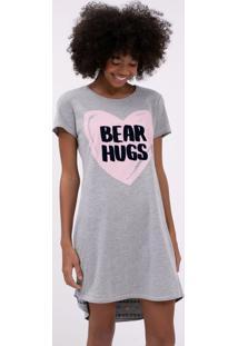 Camisola Manga Curta Estampa Corações Bear Hugs