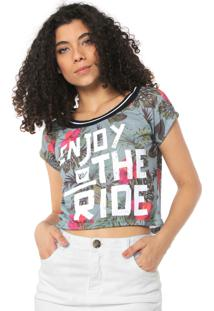 Blusa Hang Loose Tropical Enjoy Verde