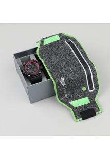 Kit De Relógio Digital Speedo Masculino + Porta Objetos - 11004G0Evnp2Ka Preto - Único