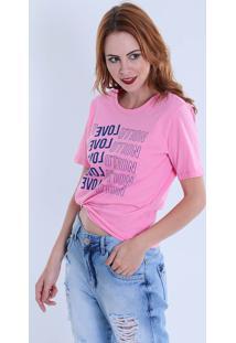 Camiseta Manga Curta Feminina Koamo Love