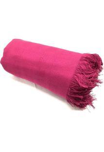 Colcha Casal Teka Lisa Com Franjas - Coleã§Ã£O Quebec Plus - Rosa #658 - Multicolorido - Dafiti