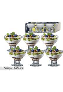 Jogo De Taças Paradise Para Sobremesa- Incolor- 6Pçsruvolo