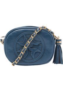 Bolsa Isabella Piu Pequena Transversal Tassel Azul