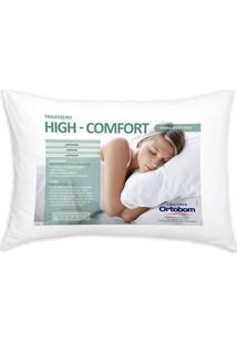 Travesseiro Hi Confort 140 Fios Cor Branco - 43604 - Sun House