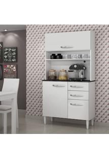 Armário De Cozinha 3 Portas Roma Sallêto Móveis Branco