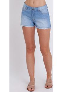 Bermuda Jeans Billabong Walk Denim Feminina - Feminino-Azul