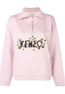 Kenzo Camisa Polo Com Logo - Rosa
