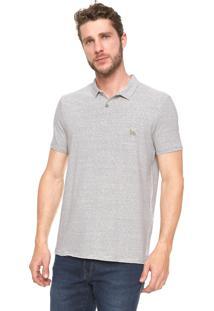 Camisa Polo Acostamento Padronagem Listras Off-White