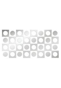Espelho Love Decor Decorativo Kit Retro Único Prata