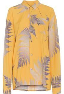 Double Rainbouu Camisa Estampada - Amarelo E Laranja