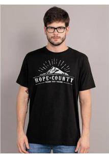 Camiseta Bandup Far Cry 5 Hope County Logo - Masculino-Preto