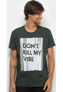 Camiseta Triton Don'T Kill My Vibe Masculina - Masculino-Verde