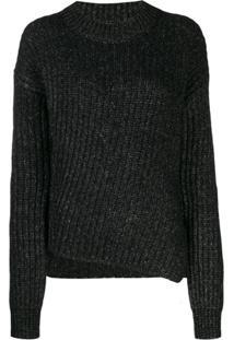 Jacob Cohen Chunky Knit Jumper - Preto