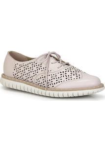 b22aa95b4 Sapato Marca Oxford Marfim feminino