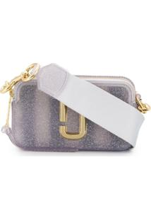 Marc Jacobs Bolsa 'The Jelly Glitter Snapshot' - Cinza