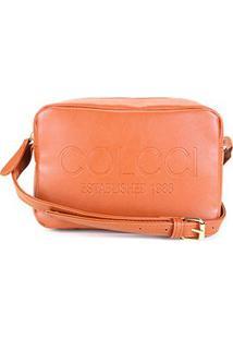 Bolsa Colcci Mini Bag Established 1986 Feminina - Feminino-Caramelo