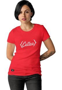 Camiseta Feminina Cellos Retro Premium W Vermelho