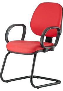 Cadeira Corporate Executiva Cor Vermelho Com Base Skim - 43943 - Sun House