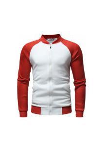 Jaqueta Masculina Eastern - Branca E Vermelho