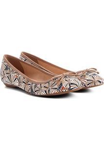 Sapatilha Shoestock Estampada Feminina - Feminino-Caramelo