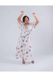 Vestido Almaria Plus Size Miss Taylor Longo Estamp