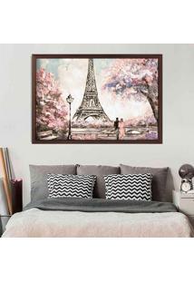 Quadro Love Decor Com Moldura Primavera Em Paris Madeira Escura Grande