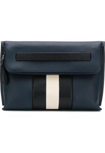 Bally Bolsa Clutch De Couro - Azul
