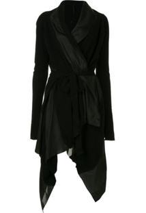Masnada Asymmetric Cashmere Dress - Preto