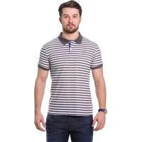Camisa Pólo Chumbo Listras masculina  3088edf8a9a90