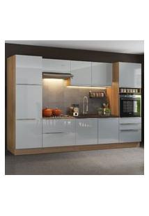 Cozinha Completa Madesa Lux Com Armário E Balcáo 9 Portas 5 Gavetas - Rustic/Cinza Cinza