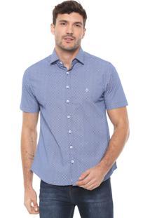 Camisa Dudalina Slim Estampada Azul