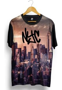 Camiseta Bsc Stranger Nyc Print - Masculino