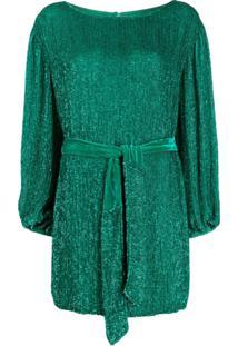 Retrofete Vestido Mini Grace Com Paetês - Verde