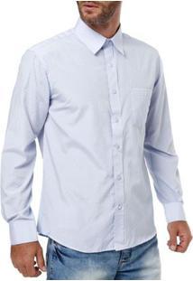 Camisa Manga Longa Masculina Bivik Azul