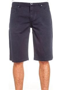Bermuda Volcom Jeans Navy Vorta Masculina - Masculino