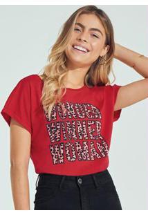 Blusa Vermelha Ampla Wonder Winner Woman