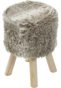 Puff Glamour- Mescla & Bege- 46Xø33Cmor Design