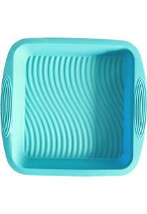 Forma De Silicone Quadrada Verde 22 X 22 X 5 Cm
