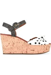 Dolce & Gabbana Sandália Plataforma Poá - Branco