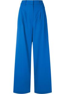 Nk Calça Pantalona Gabardine Leila - Azul