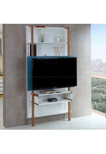 Estante Home Theater Para Tv Até 42 Polegadas Karl 180 X 99,8 X 25,5 Branco/Azul - Urbe Móveis