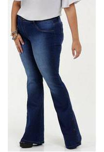 Calça Feminina Flare Stretch Plus Size Biotipo
