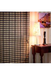 Persiana Romana Em Bambu 1,00Larg X 1,60Alt Nogueira