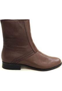 Botina Social Masculina Couro Riber Shoes Ziper Cano Médio - Masculino