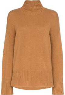 Frame High Low Turtleneck Jumper - Marrom