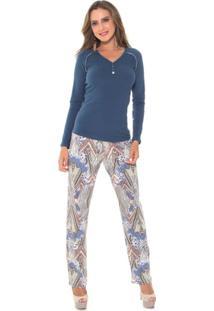 Pijama Feminino Recco Moletinho 09311 - Feminino